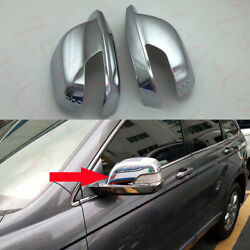 2x For Honda Cr-v Crv 2007-11 Front Left+right Chrome Abs Rearview Mirror Covers
