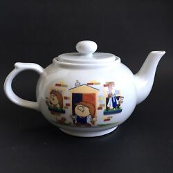 Vintage Tetley Teapot Gaffer Stanley And Clarence Characters White Colour