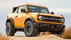 2021 Ford Bronco Orange, 24x36 Inch Poster, Awesome