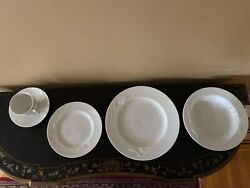 Mikasa Classic Flair White China, Embossed Calle Lily, Design Helena Uglow,