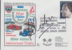 Jim Redman Hand Signed Silverstone Silver Jubilee Year First Day Cover.