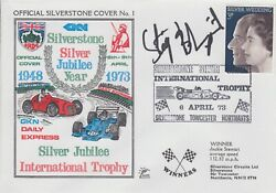 Stig Blomqvist Hand Signed Silverstone Silver Jubilee Year First Day Cover.