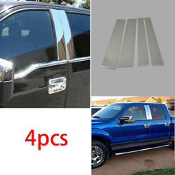 Stainless Steel Car Window B Pillar Cover Trim Sticker For Ford F-150 2015-2020
