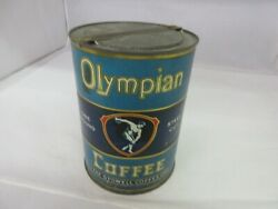 Vintage Olympian Coffee Tin Can Store Display Counter Advertising 235-j