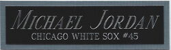 Michael Jordan Chicago White Sox Nameplate Fo Autographed Signed Baseball Jersey