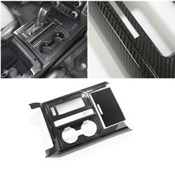 Dry Carbon Fiber Central Console Gear Shift Frame Trim For Ford F-150 2015-2020