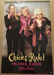 Dixie Chicks Rare 2005 Large Promo Poster For Fly Cd 24x36 Never Displayed Usa