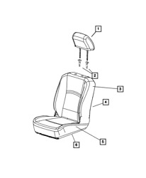 Genuine Mopar Front Seat Back Cover Right 6sy82hl1aa