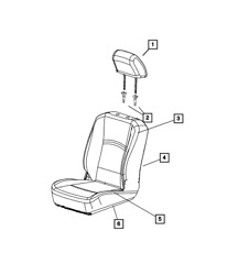 Genuine Mopar Front Seat Back Cover Right 6xl90tu6aa