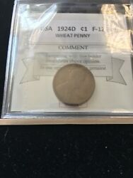 1924d Usa, Small Cent, Wheat Penny Coin Mart