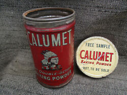 Vintage Calumet Baking Powder Spice Tin W Indian Free Sample Trial Size Can