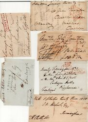 6 Free Fronts All With Signatures And Different Penny Post Marks, Potton Etc