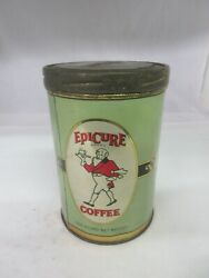 Vintage Epicure Coffee Tin Can  Advertising 983-q
