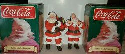 1989 Coca-cola Christmas Fabric Mache Santa Claus By Willitts 36024 And 36026
