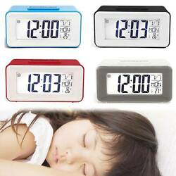 Digital LCD Snooze Electronic Small Alarm Clock with LED Backlight Light Control