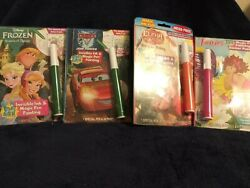 Disney Bundle Of 4 Invisible Ink Pen And Painting