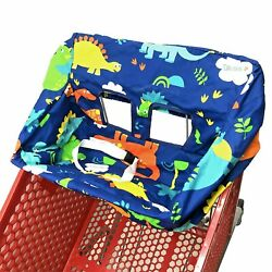 2 in 1 Shopping Cart Cover High Chair and Grocery Cart Covers Dinosaur For Baby $14.99