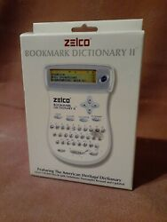 Zelco Electronic Bookmark Dictionary Ii Handy Compact Travel Reference New Inbox