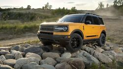2021 Ford Bronco On Rocks Poster   24 X 36 Inch   Awesome