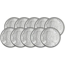 TEN 10 1 oz. Highland Mint Silver Round 2020 Buffalo Design .999 Fine $260.32