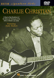 Charlie Christian For Guitar Signature Licks Learn To Play Jazz Lesson Video Dvd