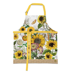 Sunflower Fall Flowers Butterfly Cotton Chefand039s Apron By Michel Designs Works