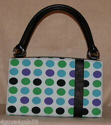 Miche Classic Purse Shell Only Fits Classic Bag Izzy Green Blue Black Dots Mint