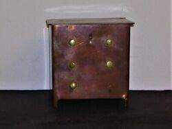 Stll Bank In Form Of Chest Copper Faux Drawers Brass Knob Handles Key Lock Top