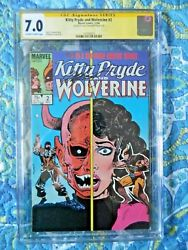 Kitty Pryde And Wolverine 2 Signed By Chris Claremont Cgc 7.0 Dec 1984, Marvel