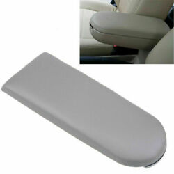 For Vw Volkswagen Car Center Console Armrest Cover Lid Parts Grey Leather New 1x