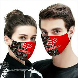 Fox Racing Honda All Over Printed Face Mask Cotton Face Mask One Size $14.95