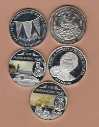 Five Silver Plated Cupro-nickel Crowns 2004 To 2015 In Very Fine Condition.