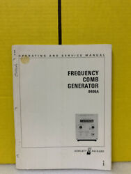 Hp 08406-90001 Model 8406a Frequency Comb Generator Operating And Service Manual