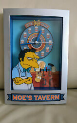 The Simpsons Moe's Tavern 2003 Wall Standing Clock It's Duff Time.