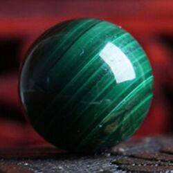 50mm Malachite Green Gemstone Ball Crystal Sphere Healing Reiki Stone Decor Gift $9.79