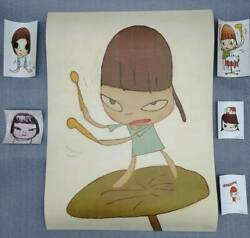 Yoshitomo Nara Sheets 2019 Poster Sticker 5 Pieces F/s From Jp In Good
