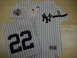 0728 Majestic 1999 World Series New York Yankees Roger Clemens Sewn Jersey