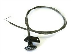 Vintage 1940s-50s Hot Rat Rod Heat Or Vent Pull Switch And Cable 48 Long Used