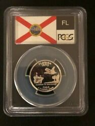 Year Set 2004-s Statehood Quarters - Proof 69 Deep Cameo Pcgs State Flag Label