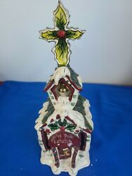 Clayworks White Church Candle House Christmas Collection Blue Sky Goldminc Box 7