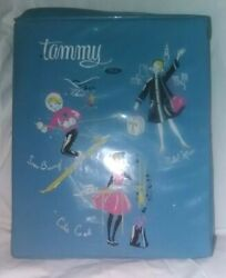 1960's Ideal Toys Tammy Doll Suitcase Playset, Winter Outfit, Evening Gown, Prom