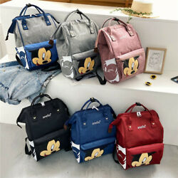 Multi use Mickey Large Mummy Baby Diaper Nappy Backpack Mom Changing Travel Bag $17.95