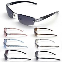 Womens Mens Eyewear Oval Sunglasses  Fashion Rimless Small Designer Shades New $13.42