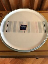 Denby Langley Spirit Line - Large Round Platter Chop Plate - New With Tags
