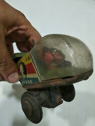 Antique Vintage Tin Toy Rare Old India Jai Hind Jawan Helicopter Wind Up