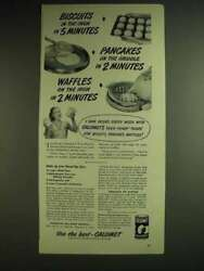 1948 Calumet Baking Powder Ad - Biscuits In The Oven In 5 Minutes
