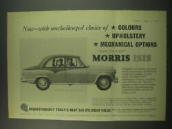 1957 Morris Isis Ad - Now - With Unchallenged Choice Of Colours Upholstery