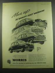 1957 Morris Minor 1000, Cowley 1500, Oxford And Isis Ad - Move Up To Quality