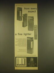 1963 Dunhill Rollagas Cigarette Lighters Ad - From Every Aspect A Fine Lighter