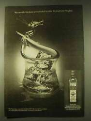 1976 Old Bushmills Irish Whiskey Ad - Pours Into Glass